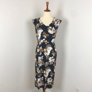 Old Navy | Floral Jersey Midi Sheath Dress